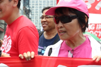 GABRIELA Women's Party Representative Emmi De Jesus echoed the call for more protection for workers.
