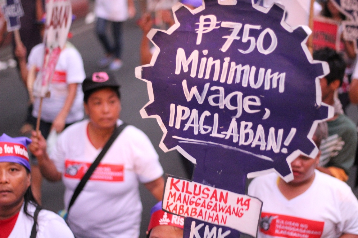 LOOK! Workers and advocates march for jobs, wages and end to contractualization during Labor Day 2017