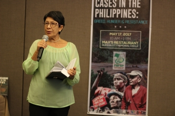 Ms. Cynthia Deduro of OFFERS-Panay on landgrabbing cases in Panay island.
