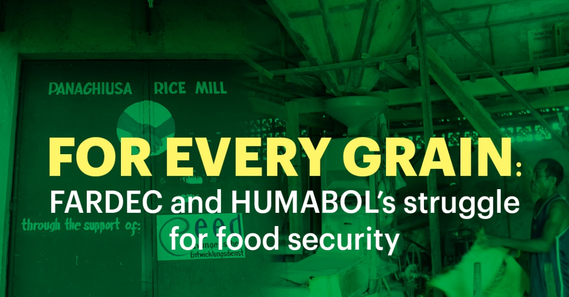For every grain: FARDEC and HUMABOL's struggle for food security